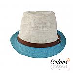 Kids Boys Children Straw Summer Beach Sun Hat Fedora with belt band